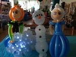 Ballonfiguren aus die Eiskönigin - Olaf, Elsa und Anna
